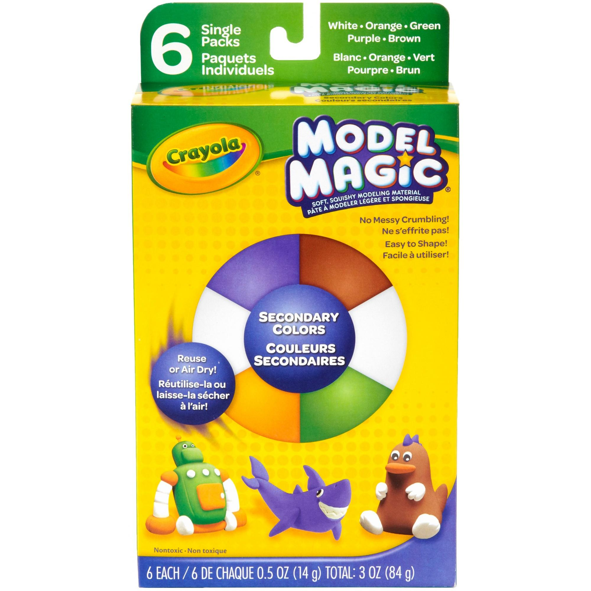 Crayola Model Magic, Secondary Colors, Clay Alternative for Kids, 3oz