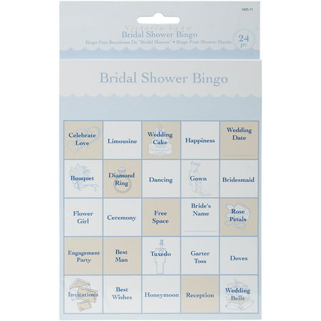 Party Game Cards, 24-Pack, Bridal Shower Bingo