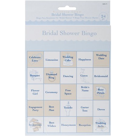 Party Game Cards, 24-Pack, Bridal Shower Bingo Bridal Party Personal Package