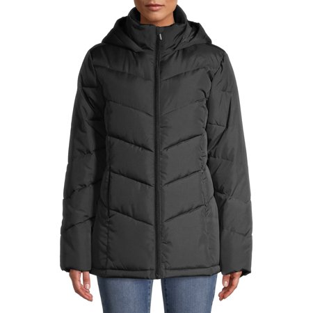 Big Chill Women's Chevron Quilted Puffer Short Jacket