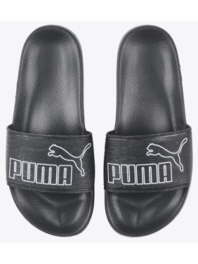 PUMA Leadcat Sandals Slides Womens Black Leather