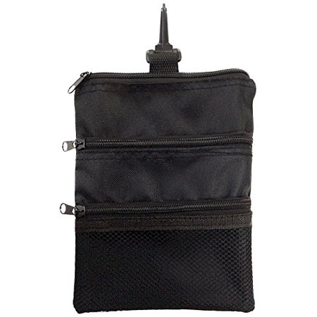 Solid Valuables Bag - Multi-Pocket Tote Hand Bag and Valuables Pouch