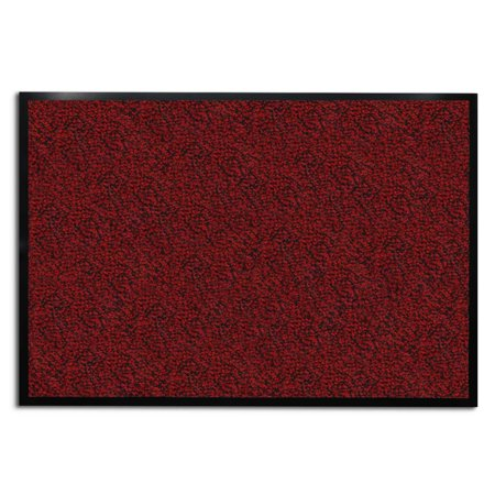 casa pura® Entrance Door Mat | Entryway Floor Mat | Highly absorbent & non-slip Indoor & Outdoor Carpet | Red - 24'' x 36''