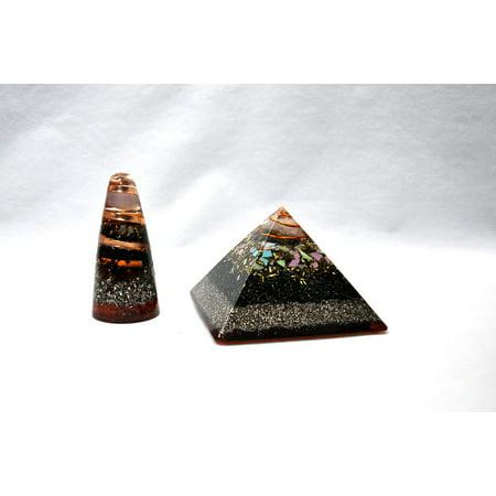 Laminated Poster Orgone Orgonite Spiritual Concept Pyramids Cone Poster Print 24 X 36