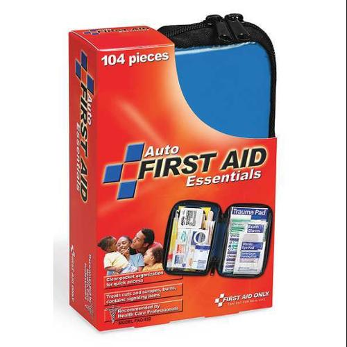 FIRST AID ONLY FAO-532GR First Aid Kit,Fabric,104 Pieces G1826049