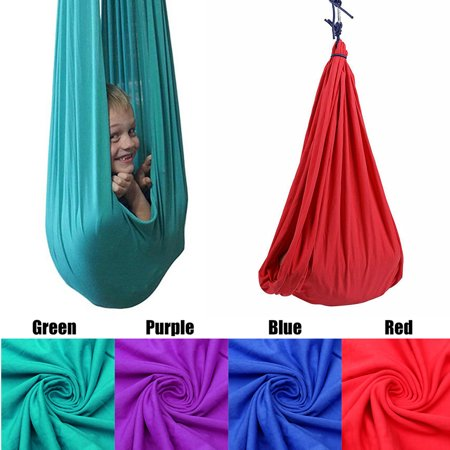 Red Swing Seat - Therapy Swing Cuddle Hammock Sensory Swing Indoor Lycra Snuggle Swing Hardware Set