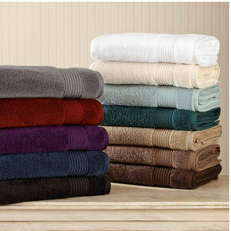 Better Homes & Gardens Extra Absorbent Solid Bath Towel Set - 6 Piece (Solid Brass Bath)