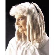 Star Power Women Colonial Times Ringlet Wig, White, One Size