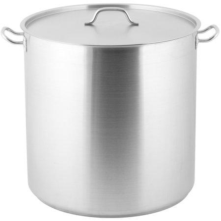 100 Quart Stock Pot - 18 1/2 B X 20 1/2 T X 20 1/8H 100 Qt 18/8 Stainless Stock Pot W/ Lid