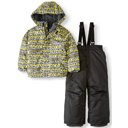Iceburg Edge Set 2 Piece Snow Suit Insulated Jacket and Snowsuit/Ski Bib (Little Boys)