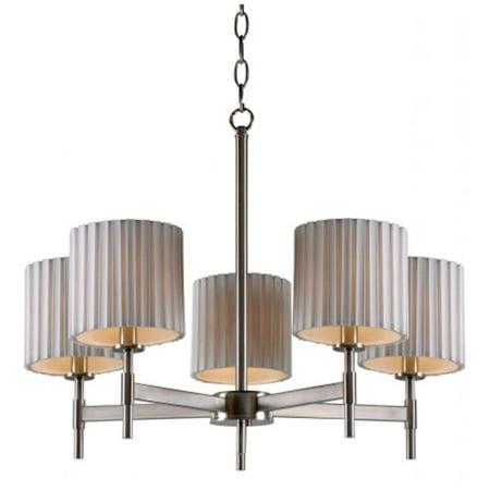Kenroy Home 93645bs Grace 5 Light Chandelier Brushed Steel
