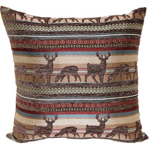 Better homes and gardens deer stripe decorative pillow - Better homes and gardens pillows ...