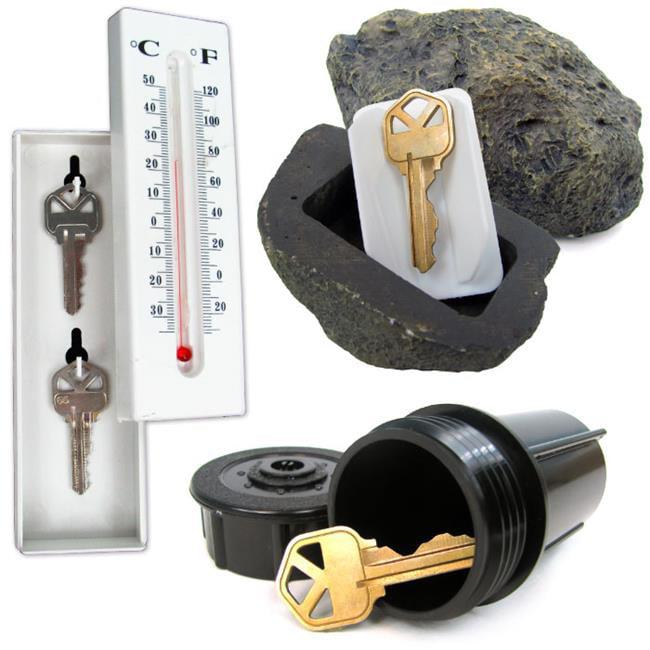 Trademark Poker 72-KEYSET Hide a Key Set - Includes Rock  Thermometer & Sprinkler
