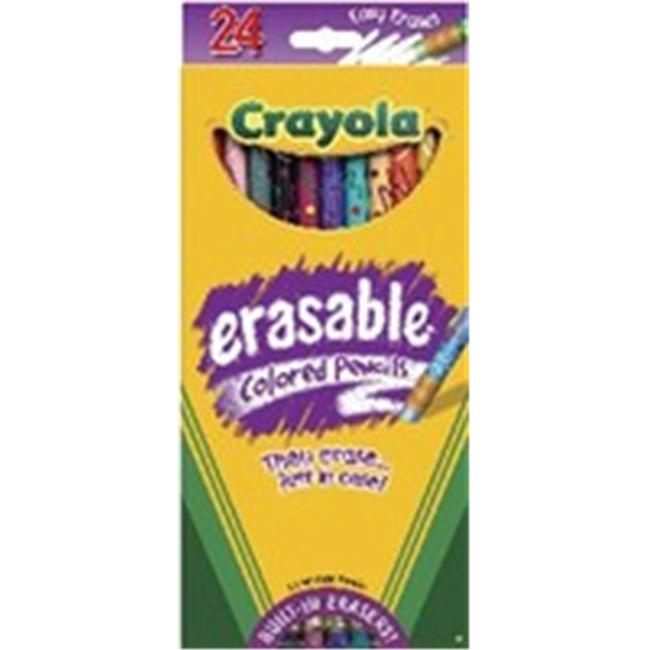 Art Supplies 2424C Crayola Erasable Colored Pencils, 24 Pack