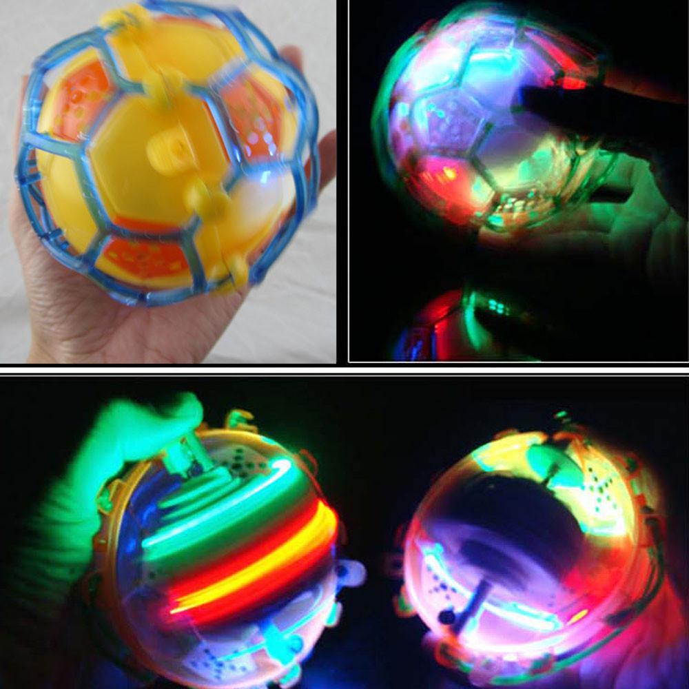 Baby Toys Creative Cute Electric Flash Music Dance Football Light Jump Ball by