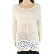 Olivia Sky NEW Women's Size Small S Marled Beige Lace Panel Knit Tunic