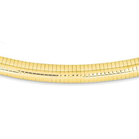 14K Yellow Gold 10 MM Domed Omega Bracelet, 7