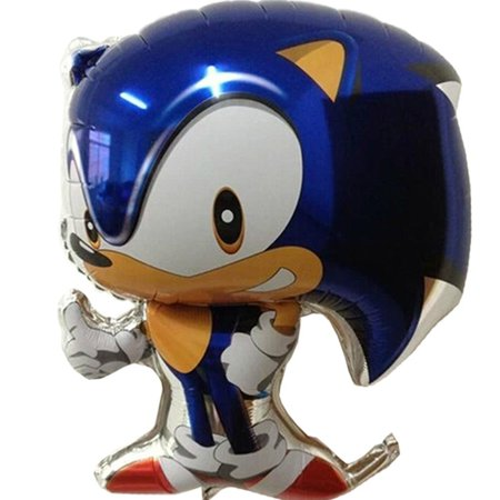 Sonic The Hedgehog Balloons (Supershape Foil Mylar Balloon (1ct), By Sonic The Hedgehog Ship from)