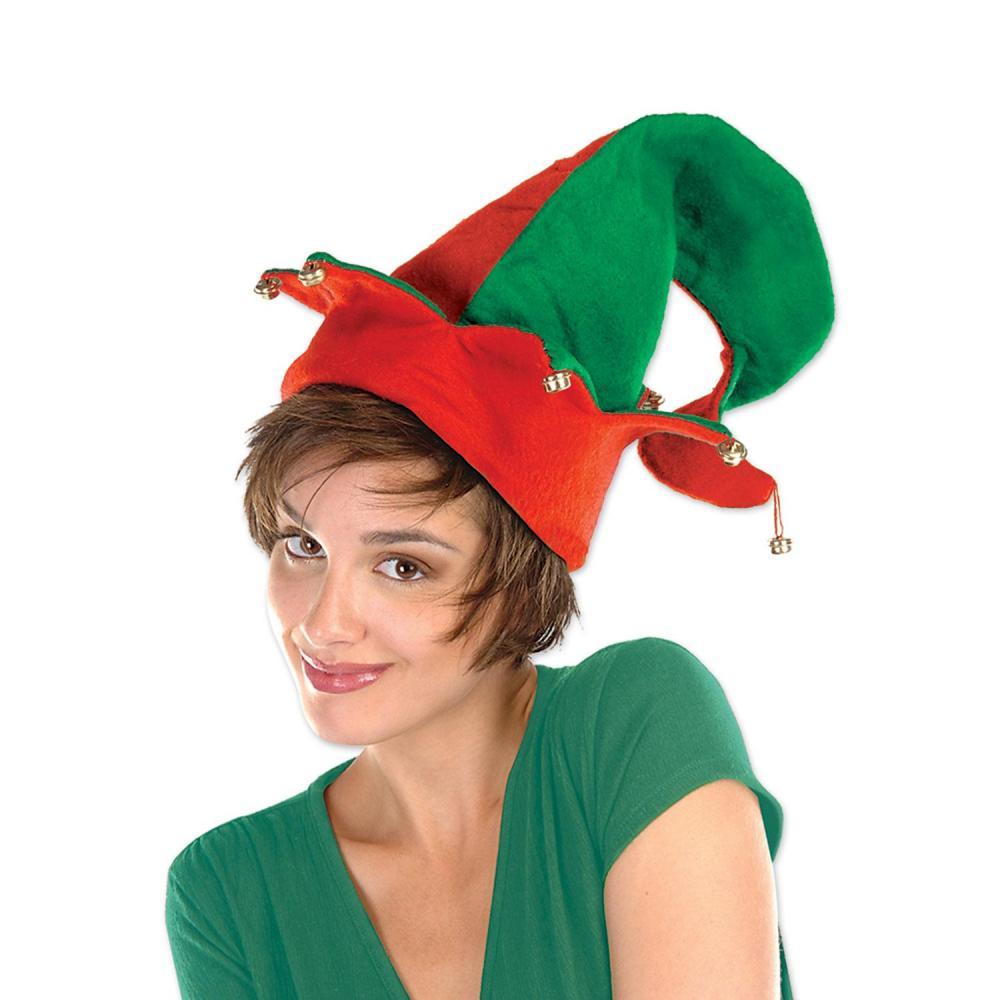 Beistle (12ct) Christmas Felt Elf Hat with Bells
