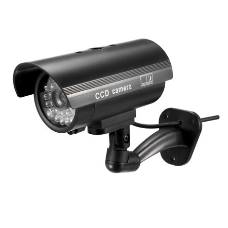 Fake Security Camera Dummy CCTV Cameras with LED Light Warning Security Sticker for Outdoor Indoor Black Camera Security Cctv Cameras