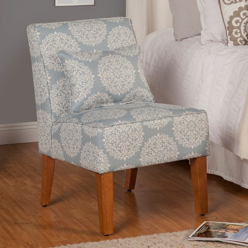 Kinfine USA Slipper Accent Chair Porcelain Blue by Overstock