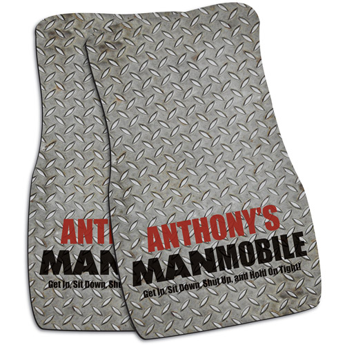 "Personalized ""Manmobile"" Car Mats, Set of 2"