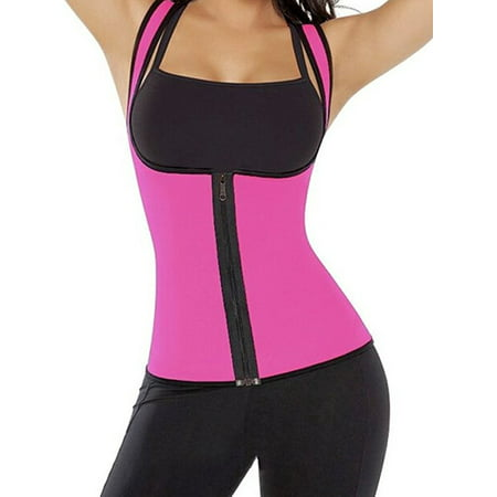 f9509dd43a548 Brady and Kelly - Thermo Neoprene Gym Waist Trainer Shirt Ultra Sweat Body  Shaper Slimming Vest Belt Waist Cincher Girdle For Weight Loss Women -  Walmart. ...