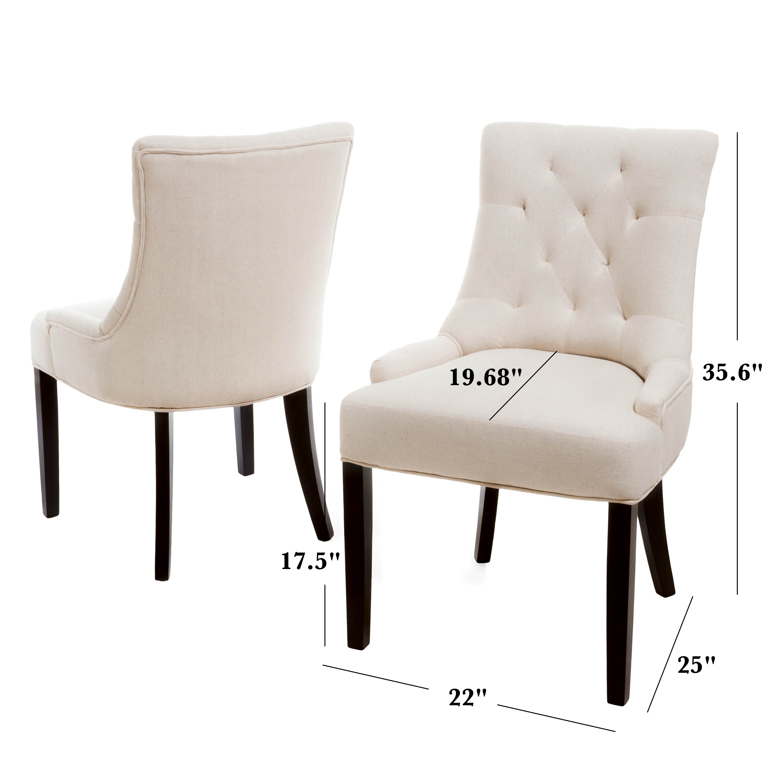 Johnson Tufted Fabric Dining Chair (Set Of 2)