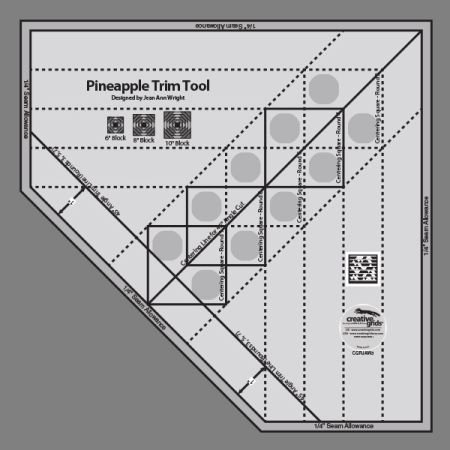 Creative Grids Pineapple Trim Tool Ruler
