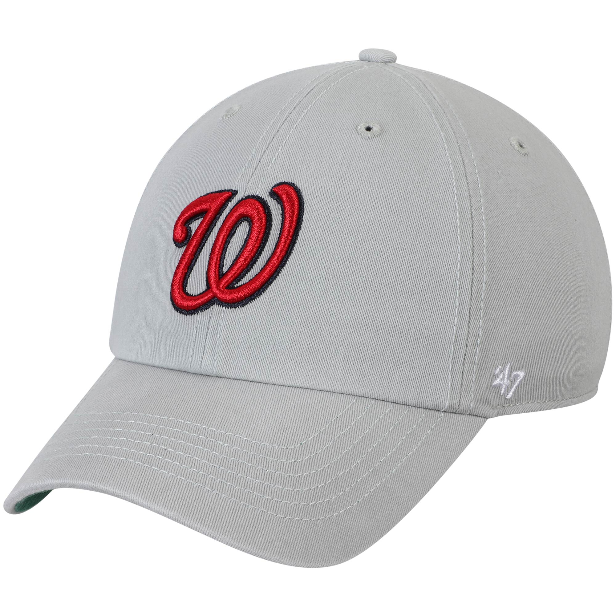 Washington Nationals '47 Primary Logo Franchise Fitted Hat - Gray