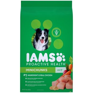 Iams Proactive Health Minichunks Dry Dog Food, Chicken, 15 Lb