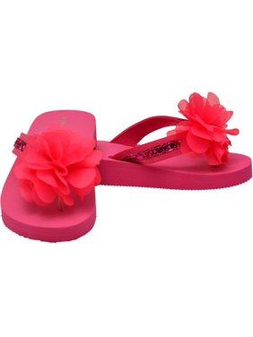 bc6b2ac065c35 Product Image L`Amour Little Girls Fuchsia Sequin Eva Foam Sandals