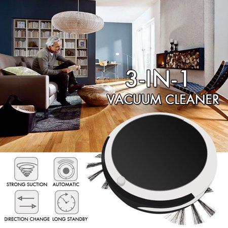 Auto Rechargeable Smart Robot Vacuum Cordless 3-in-1 Dry Wet Floor Mop (Cordless Mop And Auto Sweeper 2 In 1)