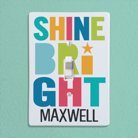 Shine Bright Personalized Kids Bedroom Light Switch Cover - Lightswitch Cover