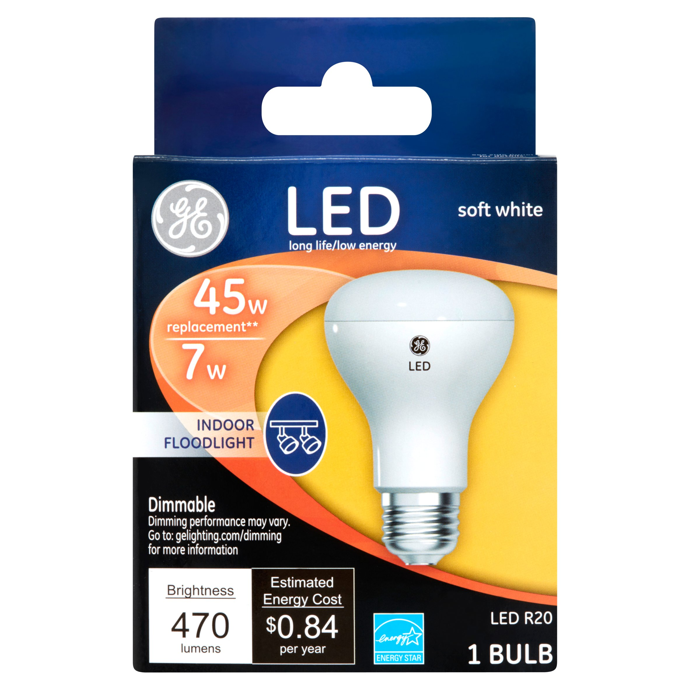 GE LED 45-Watt R20 Short Neck Light Bulb - Soft White
