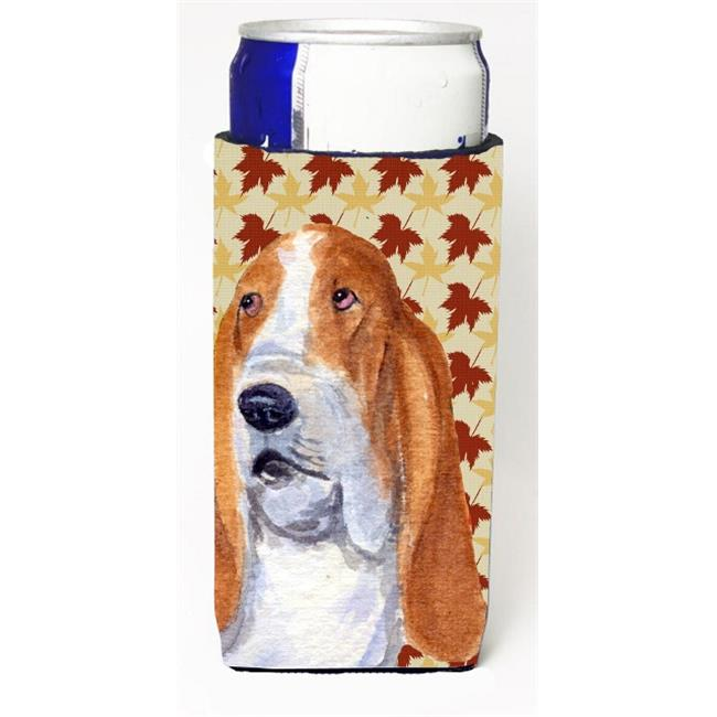 Carolines Treasures SS4328MUK Bulldog English Fall Leaves Portrait Michelob Ultra s For Slim Cans - 12 oz. - image 1 of 1