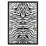 nuLOOM Machine Made Contemporary Zebra Print Area Rug