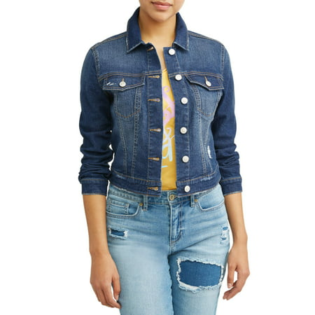 Indigo Wash Stretch Rinse (Sofia Jeans By Sofia Vergara Marianella Soft Stretch Washed Denim Jacket Women's (Medium Indigo)