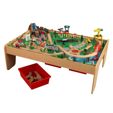 KidKraft Waterfall Mountain Train Set  Table With  Accessories - Train set table