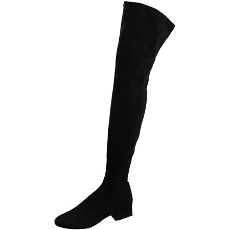 Women's Jimmy Black Stella Suede Thigh-high Boot - (Dolce Vita Donnie Over The Knee Boot)