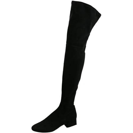Dolce Vita Women's Jimmy Black Stella Suede Thigh-high Boot -