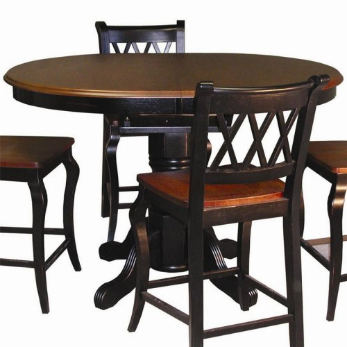 Sunset Trading Oval Cafe Counter Height Dining Table with Butterfly Leaf