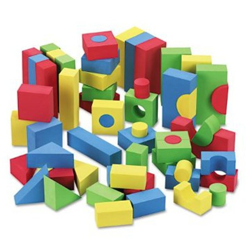 Foam Blocks, 68 Piece, w/Carry Bag, Assorted CKC4380
