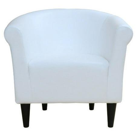 Newport Leatherette Club Chair -White