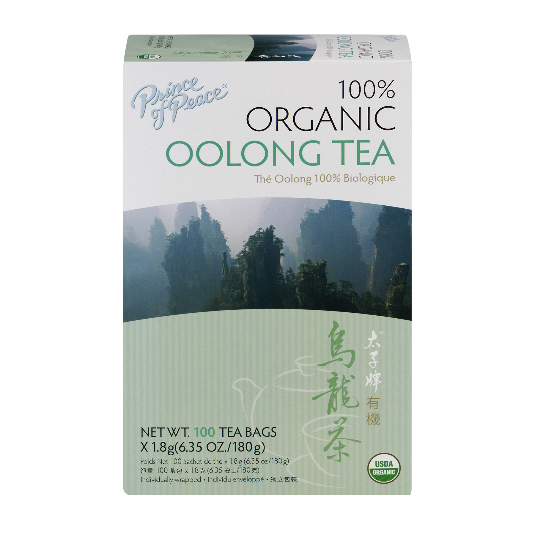 Prince Of Peace 100% Organic Oolong Tea Bags - 100 CT100.0 CT