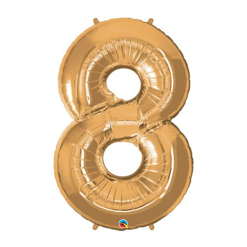 "Way to Celebrate 42"" Number 8 Gold Foil Balloon"