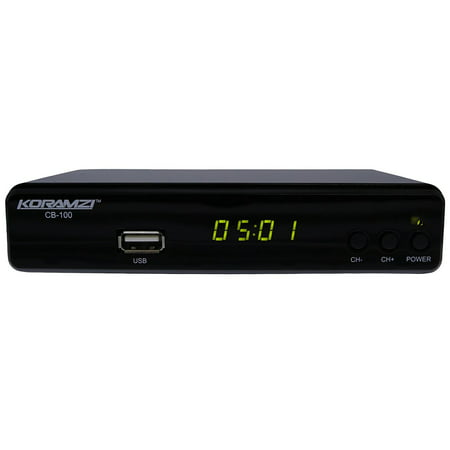 Koramzi CB-100 HDTV Digital TV Converter Box ATSC With USB DVR Recording and Media player PVR Function / HDMI Out / Coaxial Out / RCA Out / USB (Atsc Digital Hdtv)