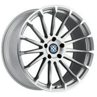 Beyern Aviatic 18x8.5 5x120 +40mm Silver/Mirror Wheel Rim