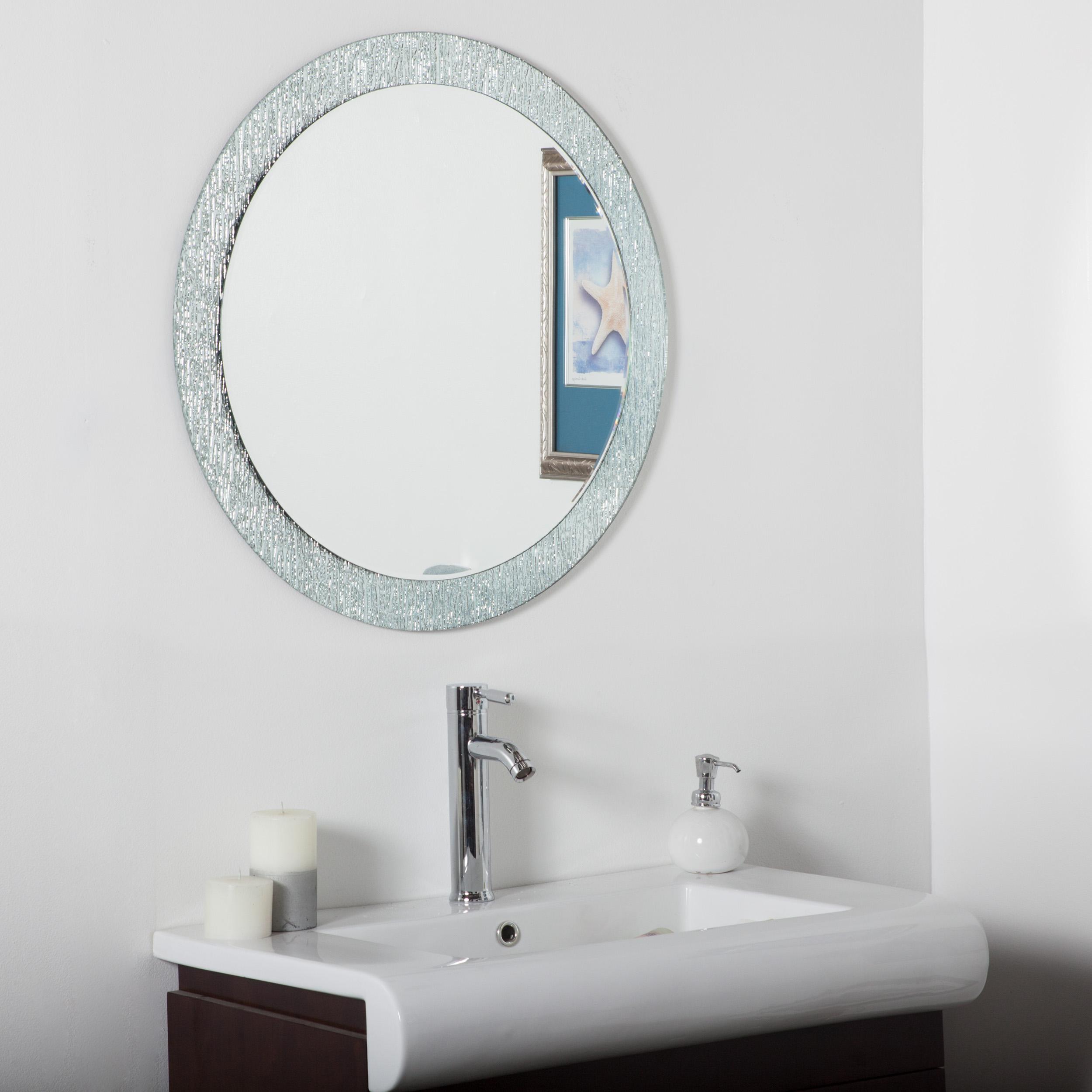 Décor Wonderland Molten bathroom mirror (round) 27.6 inx27.6 in