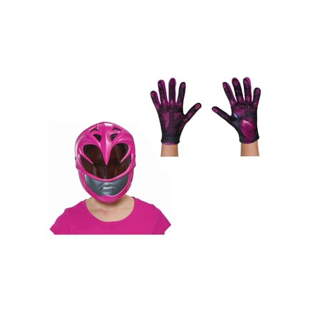 Girls Pink Power Ranger Movie Mask and Gloves - Movie Character Masks